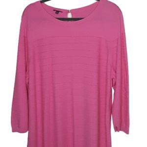 Talbots plus size pink cotton blend sweater, 2x